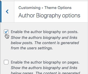 Enable author biography on posts enable-author-bio-theme.jpg