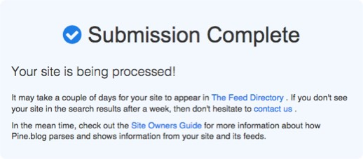RSS submission complete pine-blog-submission-complete.jpg