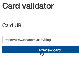 Use the Twitter Card validator