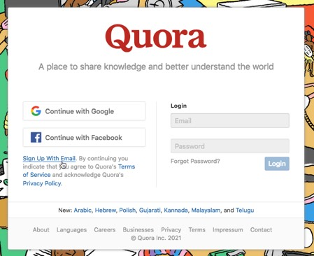 Create an account on Quora quora-create-account.jpg